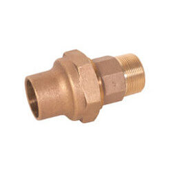 "1-1/2"" Bronze Flare x MIP Male Adapter Product Image"