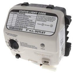 """WT8840 Water Heater Gas Valve Control, NG -<br>1"""" Spud, 5"""" W.C. Product Image"""