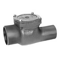 "4"" Cast-Iron Flapper Type Backwater Valve with Bronze Flapper Valve Product Image"