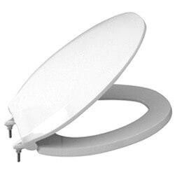 Round Closed Front Commercial Heavy Duty Toilet Seat (White) Product Image