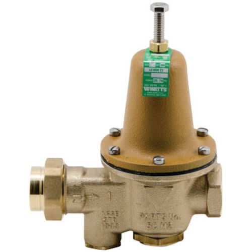 """1-1/4"""" LFU5B-Z3 Pressure Reducing Valve with Bypass Check Valve, Lead Free Product Image"""