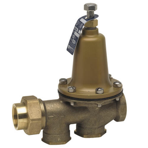 "3/4"" 25AUB-S-DU-Z3 Pressure Reducing Valve, Lead Free (Double Union - Sweat Inlet x Sweat Outlet) Product Image"