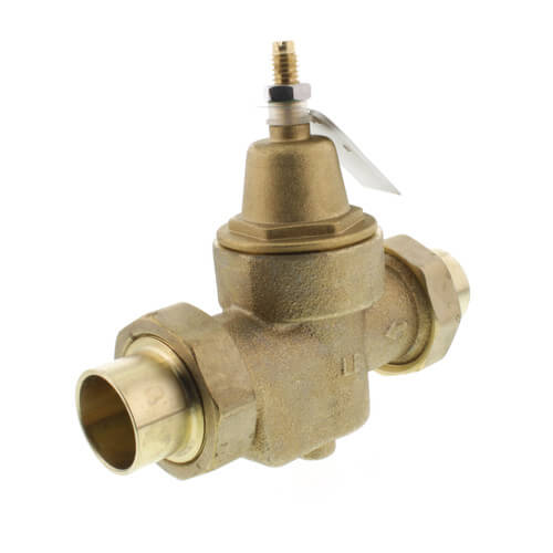 "LFN55BM1-DUS - 1"" Union Sweat Water Pressure Reducing Valve (Lead Free) Product Image"