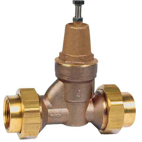 "LFN55BU - 1-1/4"" NPT Union x NPT Female Water Pressure Reducing Valve (Lead Free) Product Image"
