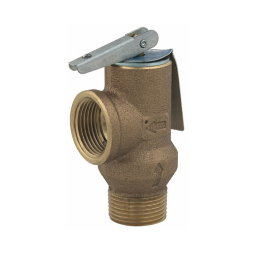 """3/4"""" 3L-100 Poppet Type Pressure Relief Valve w/ Test Lever (100 psi) Product Image"""