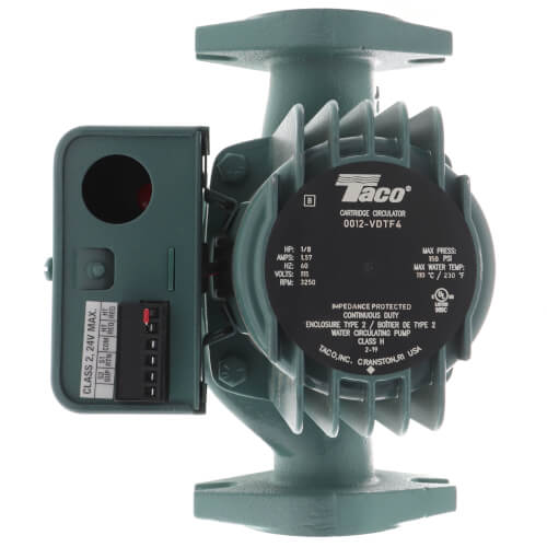 "0012 Variable Speed Delta-T Cast Iron Circulator Pump, 1/8 HP (2"" Flange) Product Image"