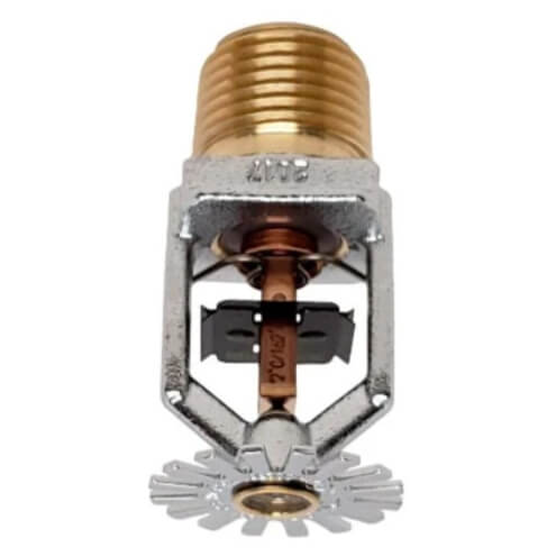 FR-QR Pendent Sprinkler (SS2551), QR, 5.6K, 162°F - Chrome - Head Only Product Image
