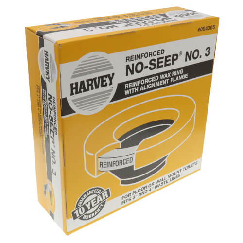 Harvey No-Seep #3 Reinforced Wax Toilet Bowl Gasket w/ Flange Product Image