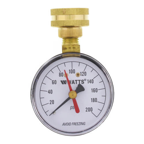 "IWTG, 2-1/2"" Hose Connection Gauge (0-200 psi) Product Image"