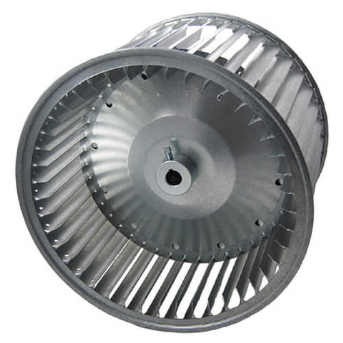"15"" A15-12A Double Inlet Blower Wheel with Belt Drive, 1900 RPM, CW/CCW (1"" Bore) Product Image"