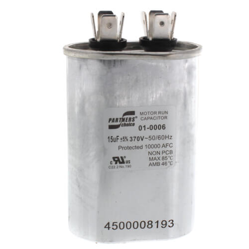 15 MFD Oval Capacitor (370V) Product Image