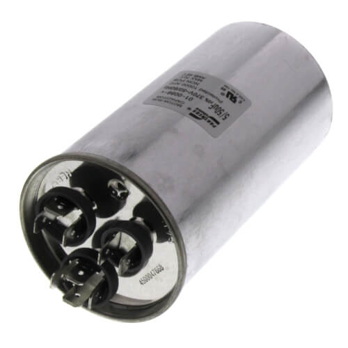 50/5 MFD Round Dual Capacity Capacitor (370V) Product Image