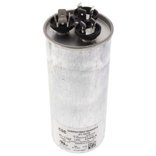 80/7.5 MFD Round Run Dual Capacitor (370V) Product Image