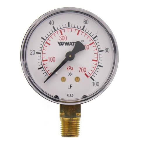 "LFDPG1 2-1/2"" Pressure Gauge - Lead Free (0-100 psi) Product Image"