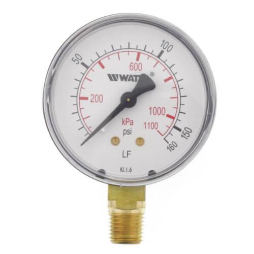 "DPG1 2-1/2"" Pressure Gauge Lead Free (0-160 psi) Product Image"