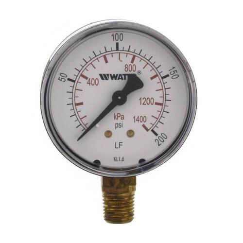 "LFDPG1 2-1/2"" Pressure Gauge (0-200 psi) Product Image"