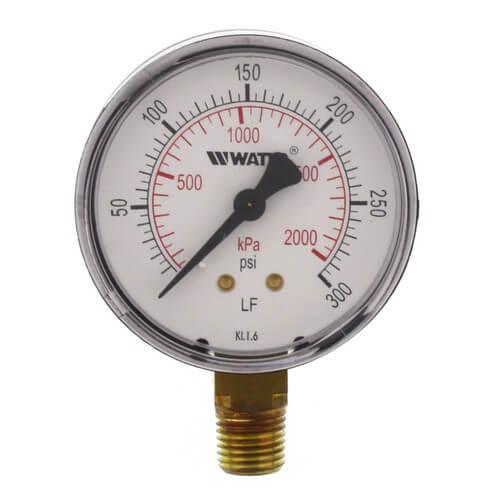 "LFDPG1 2-1/2"" Pressure Gauge (0-300 psi) Product Image"
