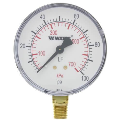 "LFDPG1 3"" Pressure Gauge Lead Free (0-100 psi) Product Image"