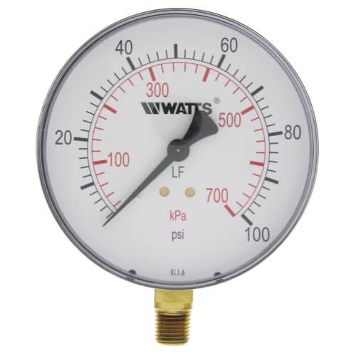 "LFDPG-1 4"" Pressure Gauge (0-100 psi) Product Image"