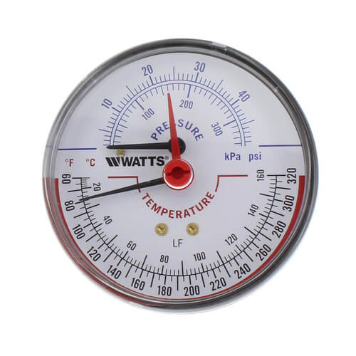 "LFDPTG-3 3"" Pressure & Temperature Gauge (0-50 psi) Product Image"
