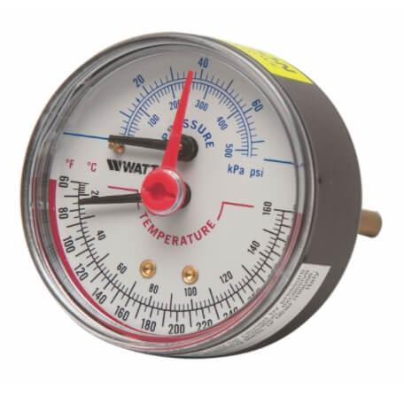 "LFDPTG-3 1"" Pressure & Temperature Gauge (0-75 psi) Product Image"