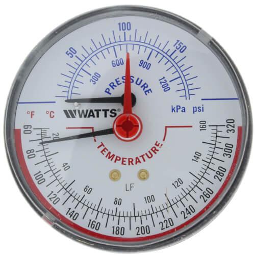 "LFDPTG-3 3"" Pressure & Temperature Gauge (0-200 psi) Product Image"