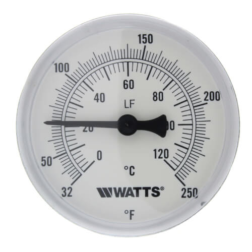 """LFTB-2-1/2-232-248 Center Back Entry Bimetal Thermometer (2-1/2"""" Dial) Product Image"""