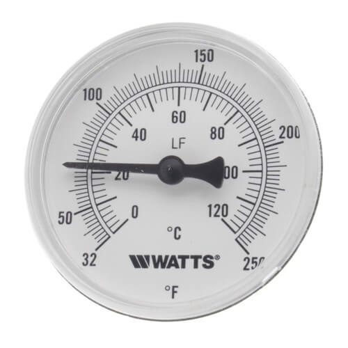 "LFTB-2-1/2-232-140 Center Back Entry Bimetal Thermometer (2-1/2"" Dial) Product Image"