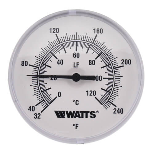 "1/2 LFTB-3-2 32-248 Center Back Entry Bimetal Thermometer (3"" Dial) Product Image"