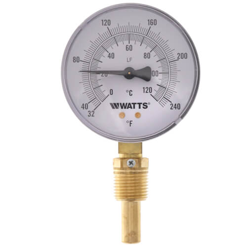 """LFTBR-3-2-32-248 1/2"""" Bottom-Entry Bimetal Thermometer (3"""" Dial) Product Image"""