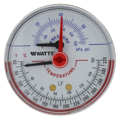 "LFDPTG-3 2-1/2"" Pressure & Temperature Gauge (0-70 psi) Product Image"