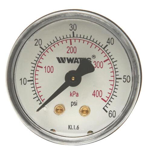 "LFDPG3-2, 2"" Dial Center Back Entry Pressure Gauge (0-200 psi) Product Image"