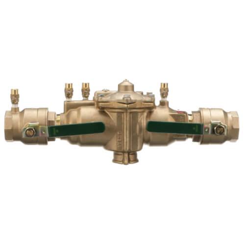 "2"" Lead Free Bronze RPZ w/ 1/4 Turn Shutoff Valves, Polymer Coating (LF009M2PCQT2) Product Image"