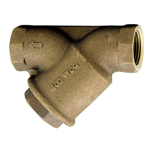 """1/2"""" Bronze Wye Strainer w/ Tapped Retainer Cap, Lead Free Product Image"""