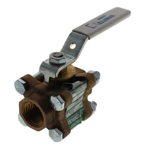 "LFB6800 1/2"" 3-Piece Full Port Ball Valve (Lead Free) Product Image"