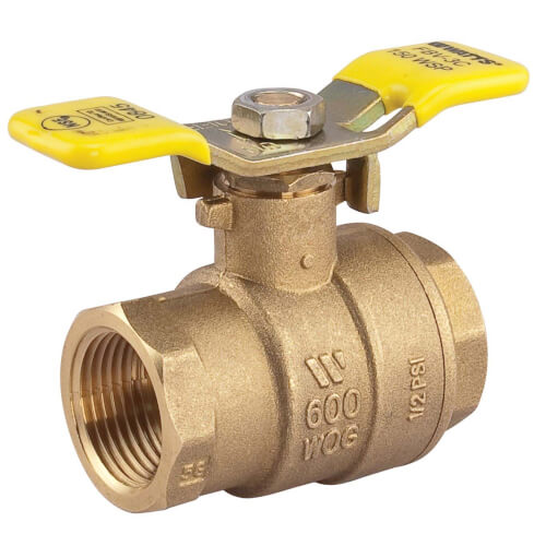 "1"" LFFBV-3C-TH Threaded 2-Piece Full Port Ball Valve w/ T-Handle (Lead Free) Product Image"