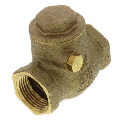 "3/4"" LFWCV Lead Free Brass Swing Check Valve Product Image"