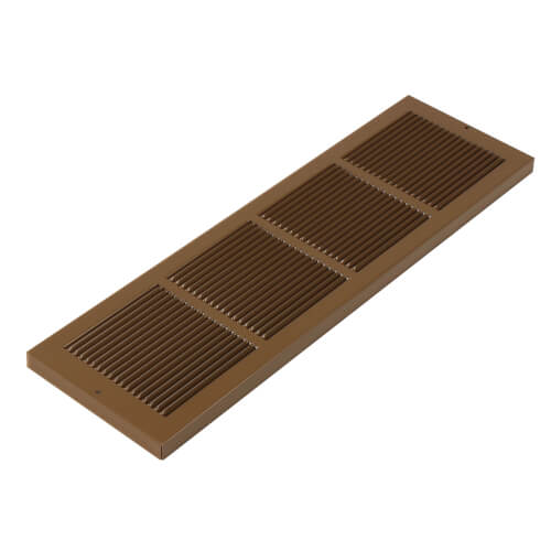 "24"" x 6"" Golden Sand Baseboard Return Air Grille (657 Series) Product Image"