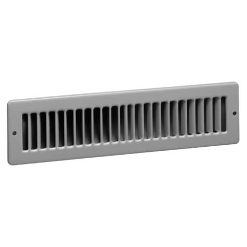 "14"" x 2"" (Wall Opening Size) Black Toe-Space Grille (420 Series) Product Image"