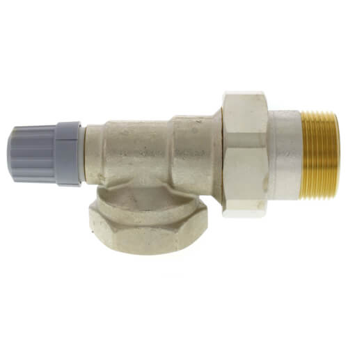 "1-1/4"" Side Mount Angle Thermostatic Radiator Valve Product Image"