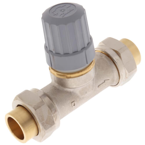"1/2"" Straight Thermostatic Radiator Valve, Double Solder Union Product Image"