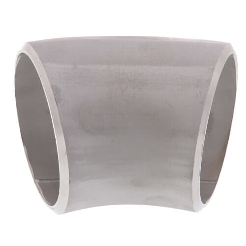 "3"" Sch 10 Stainless Steel Butt-Weld 45° Long Radius Elbow Product Image"