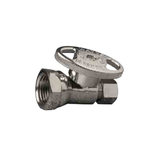 "3/8"" FIP x 3/8"" OD Compression Straight Stop Valve - No Lead (Chrome) Product Image"