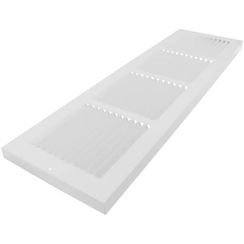 """24"""" x 6"""" White Baseboard Return Air Grille (674 Series) Product Image"""