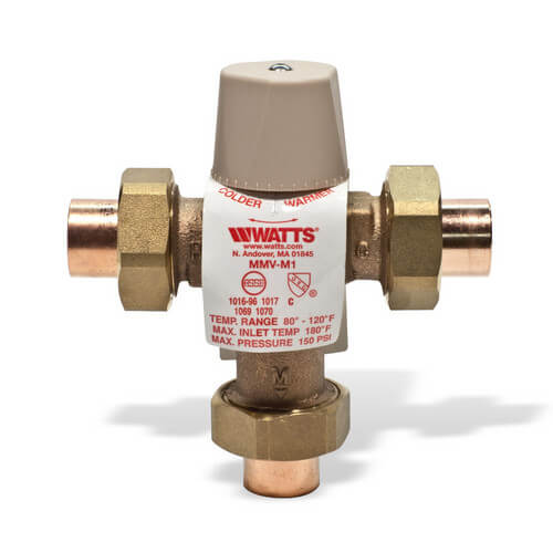 """3/4"""" LFMMVM1-US Lead Free Mixing Valve (Sweat) Product Image"""