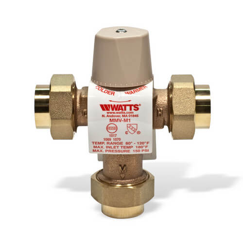 """Watts Thermostatic Mixing Valve: 3/4"""" LFMMVM1-UT Lead Free Mixing"""