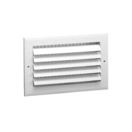 "10"" x 8"" (Wall Opening Size) White Sidewall/Ceiling Register (A611MS Series) Product Image"