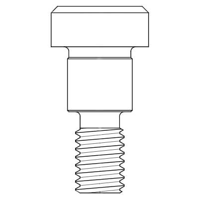 """#3/8""""-16 Hex Stainless Steel Shoulder Screw Product Image"""