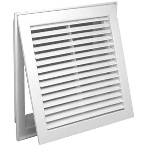 """24"""" x 10"""" (Wall Opening Size) White Steel Fixed-Bar Filter Grille (96AFB Series) Product Image"""