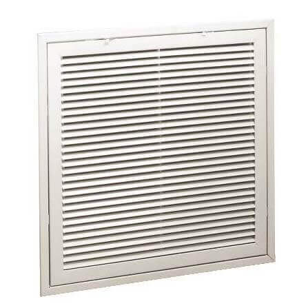 """24"""" x 30"""" (Wall Opening Size) White Steel Fixed-Bar Filter Grille (96AFB Series) Product Image"""